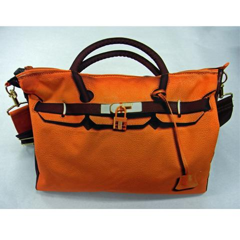 T.A.T.A. BABY Photo Print Bag (L) Orange / Brown (In stock)